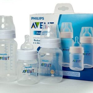 kit com 3 Mamadeiras Classica Philips Avent Anticólica  Transparente – 125/260/330ml
