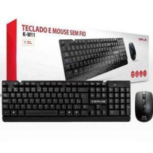 Kit Teclado + mouse C3Plus Sem Fio – Preto