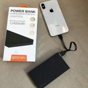 Carregador Portátil Universal12400mAh USB Geonav Power Bank