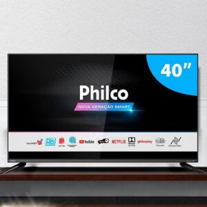 Smart TV PHILCO 40″ Android Google TV PTV40G71AGBL LED – GLOBO PLAY- YOUTUBE