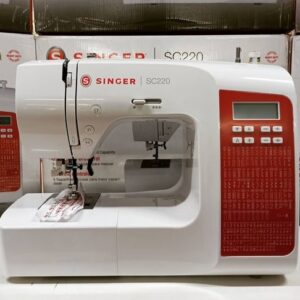 cupom→( SINGER10 )Máquina de Costura Singer SC220 RD Portátil Eletrônica 200 Pontos – Bivolt