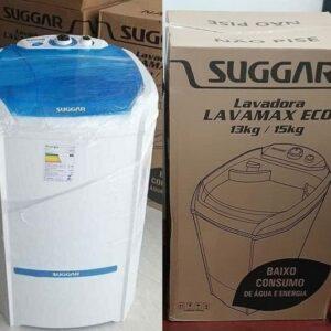 Tanquinho Suggar 13kg função semiautomática 06 programas de lavagem 03 níveis da água – 110v/220v