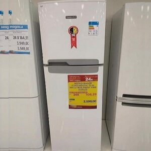 Geladeira/Refrigerador Continental Frost Free Duplex 370L – 110v/220v