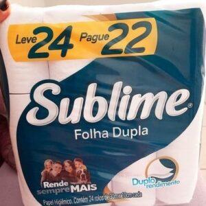 Papel Higiênico Folha Dupla Sublime Softys 30m – 24 Rolos