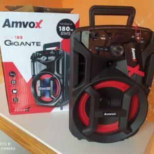 Caixa de Som Amvox Aca 188 Gigante Bluetooth Amplificada 180W USB com Tweeter