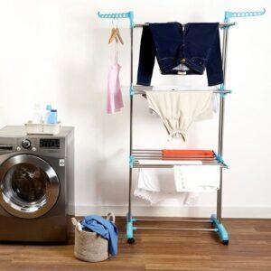 cupom→( NIVER30 )Varal de Chão Vertical 3 Andares – Fun Clean