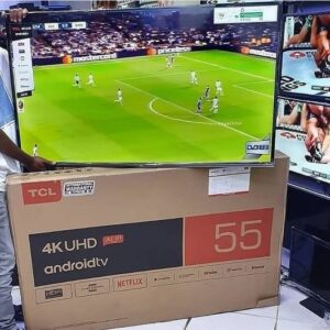 Smart TV LED 55″ 4K TCL c/ Android TV, Controle Remoto Comando de Voz, HDR, Micro Dimming, Google Assistant, Bluetooth, HDMI e USB