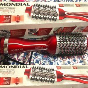 Escova Secadora Mondial Silver Red ES-07 Vermelha – 110v/220v