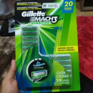 Carga para Aparelho de Barbear Gillette Mach3 Sensitive – 20 unidades