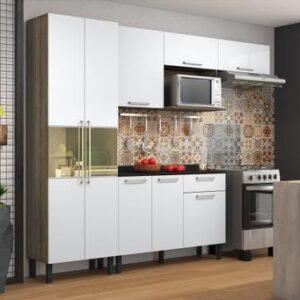 Cozinha Compacta Itatiaia Madeira Lya – Nicho para Micro-ondas 5 Portas