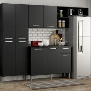 Cozinha Compacta Pequim 9 Portas Multimóveis Preto