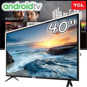 "Smart TV LED 40"" TCL Full HD Android – Wi-Fi HDR Inteligência Artificial 2 HDMI USB"