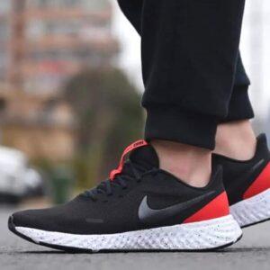 cupom→( TOPZAT )Tênis Nike Revolution 5 Masculino Preto+Vermelho – Num. 38 ao 44