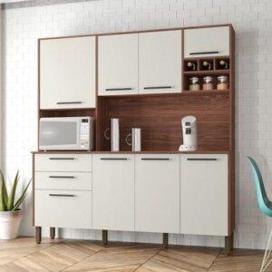 Cozinha Compacta Kits Paraná Ágata – Nicho para Micro-ondas 8 Portas 2 Gavetas