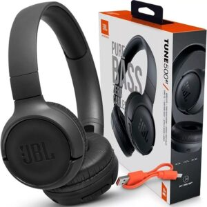 Headphone Bluetooth JBL T500BT com Microfone – Preto