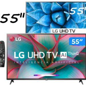 "Smart TV UHD 4K LED IPS 55"" LG 55UN7310PSC Wi-Fi – Bluetooth HDR Inteligência Artificial 3 HDMI 2 USB"