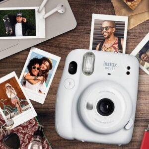 Instax Mini 11 Fujifilm Branco Flash Automático com Acessórios