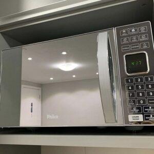 Microondas Philco PME25 Espelhado Receitas Pré-programadas – 110v/220v