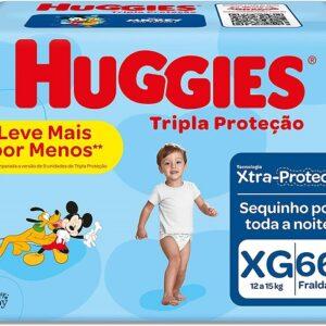 Fralda Huggies Tripla Proteção Xg – 66 Fraldas