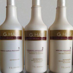 G. Hair Escova Progressiva Alemã Kit 3x1000ml – Fórmula Inoar