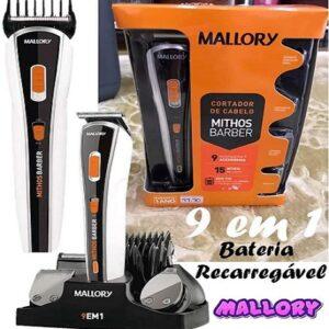 Aparador de Pelos Mallory Mithos Barber 9 em 1 – 3 Velocidades