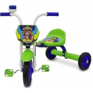 Triciclo Infantil Ultra Bike Top Girl Azul Com Verde