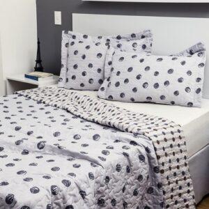 Colcha Queen Boutis Dot Com 2 Porta-travesseiros Casa & Conforto – Estampas Diversas