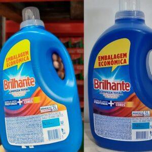 Kit Sabão Líquido Brilhante Limpeza Total 5 Litros – 2 Unidades