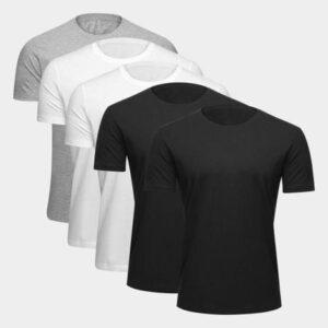 Kit Camiseta Básica Ultimato Masculina – 5 Peças
