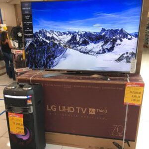 "Smart TV UHD 4K LED 70"" LG Wi-Fi Bluetooth HDR Inteligência Artificial HDMI USB Comando de voz"