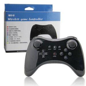 Controle Sem Fio Compatível Com Nintendo Wii U Pro Wireless Bluetooth Preto