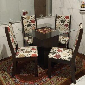 cupom→( MADEIRA30 ) Mesa de Jantar com 4 Cadeiras Viero Via