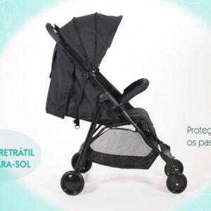 Carrinho de Bebê Bebeliê apoio ajustável e capota retrátil removível – 0 a 15kg