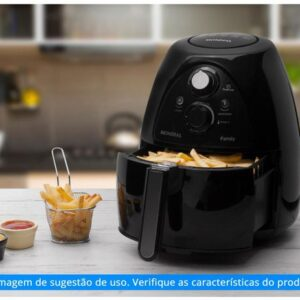 Fritadeira Elétrica Sem Óleo/Air Fryer Mondial – NAF-05 Preta 4L com Timer – 110v/220v
