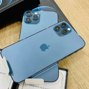 "iPhone 12 Pro Max Apple 128GB – Azul-Pacífico 6,7"" Câm. Tripla 12MP iOS"