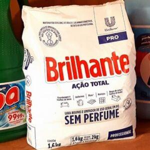 Sabão em Pó Brilhante Ação Total Pro Sem Perfume Profissional Concentrado – 1,6kg