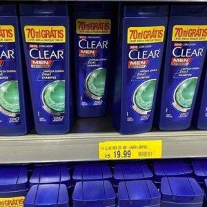 Shampoo Anticaspa Clear Men Limpeza Diária 2 em 1 – 400ml