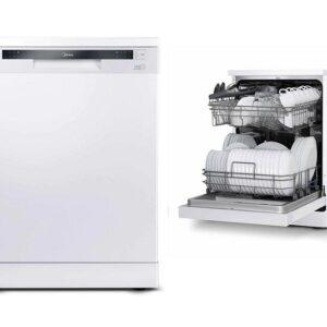 Lava Louças Midea 14 Serviços função Pré-Lavagem, Eco, Intensivo, Meia Carga, Vidro – 110v/220v