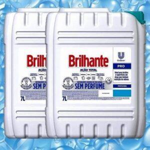 Sabão Líquido Brilhante Ação Total Profissional Sem Perfume 7L – 2 Unidades