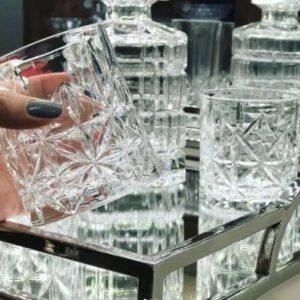 Jogo de Copos de Vidro para Whisky 300ml Bon Gourmet Estela – 6 Peças