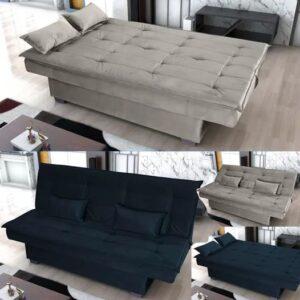 Sofá-cama Casal 3 Lugares Suede Matrix