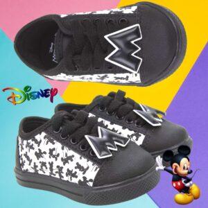 Tênis Infantil Marvel Mickey Mouse Black Masculino Disney – Num. 20 ao 27