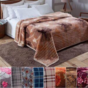 Cobertor Casal Jolitex Microfibra 100% Poliéster – Dyuri Budbery – (varias estampas)
