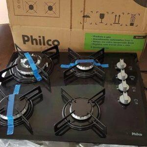 Cooktop 4 Bocas Philco Cook Chef 4 TC à Gás GLP Tripla Chama acendimento é automático – Bivolt