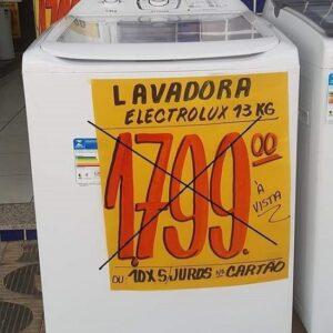 Lavadora de Roupas Electrolux Premium Care 13kg Cesto Inox 12 Programas de Lavagem e edredom – 110v/220v