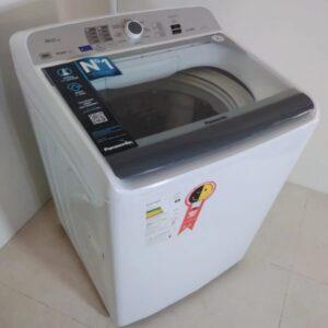 Lavadora de Roupas Panasonic NA-F160B6WB – 16Kg Cesto Inox 9 Programas de Lavagem – 110v/220v