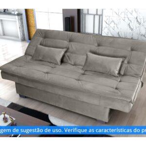 Sofá-cama Casal 3 Lugares Suede Matrix – Esmeralda