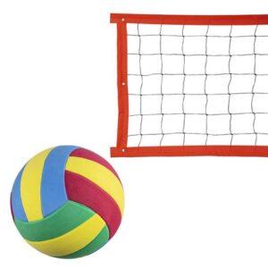 Kit rede de vôlei especial 8 metros laranja + bola – Evo Sports