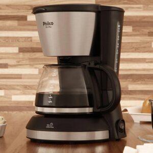 Cafeteira Elétrica Philco PH14 PL 14 Xícaras Inox – Preto Fosco e Prata – 110v/220v