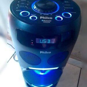 Caixa Acústica Philco PCX3500 150W Flashs de Luz Bluetooth USB e Bateria Interna – Bivolt